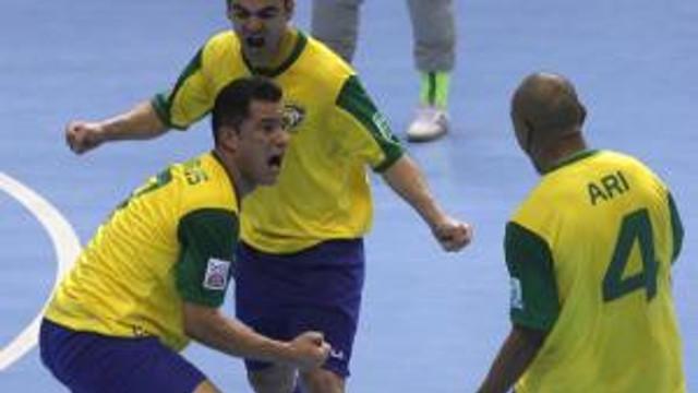 Comemoração Gol da Seleção Brasileira de Futsal