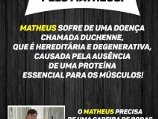 RC Livramento lança campanha para ajudar o jovem Matheus