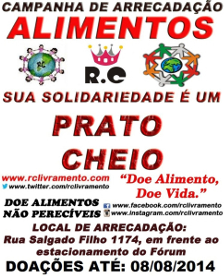 CAMPANHA DE ARRECADAÇÃO DE ALIMENTOS 2014 DO RC LIVRAMENTO