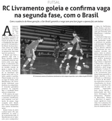 RC Livramento sub-18 está classificado para as Semifinais