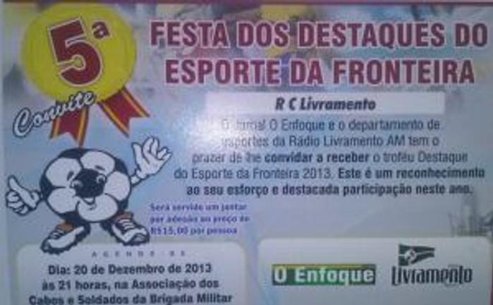 Troféu Destaque do Esporte da Fronteira 2013
