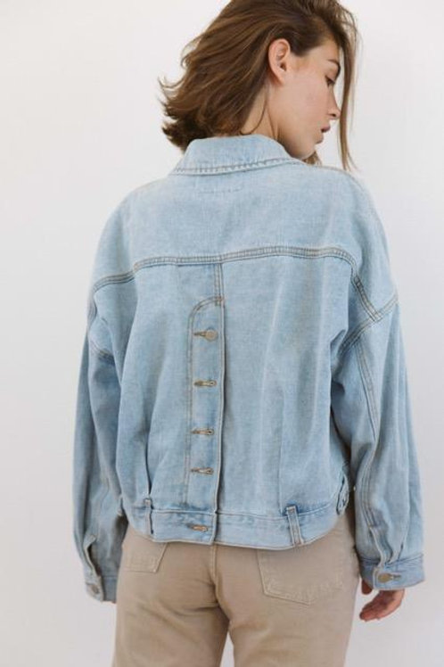 """""""Happiness"""" Re-Worked Jean Jacket"""