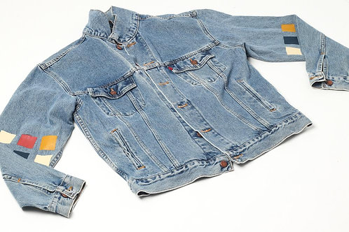 """Levi's Hand Painted Sleeves - """"Squares"""" Jacket"""