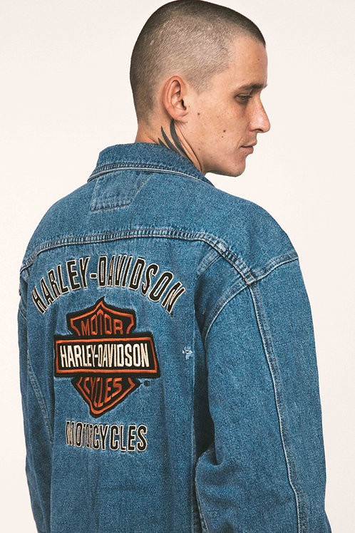 Harley Davidson - Jeans Jacket Orange Patch