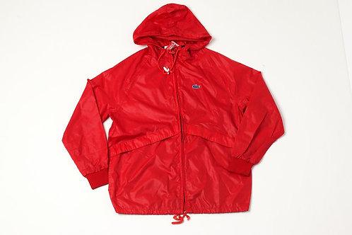 Red Lacoste Windbreaker