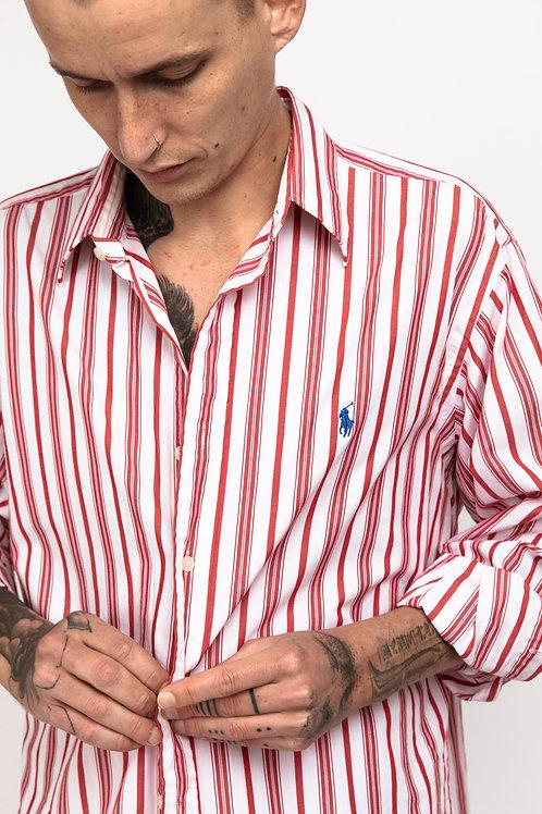 Ralph Lauren Button Down - Red White Stripes