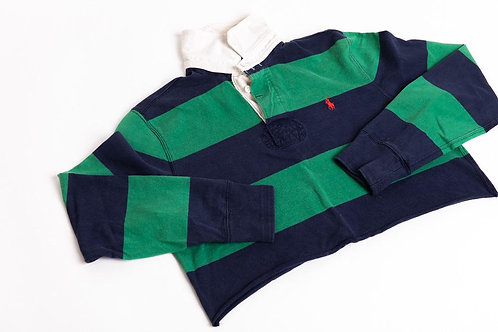 Ralph Lauren Cropped Rugby Polo - Green/Blue