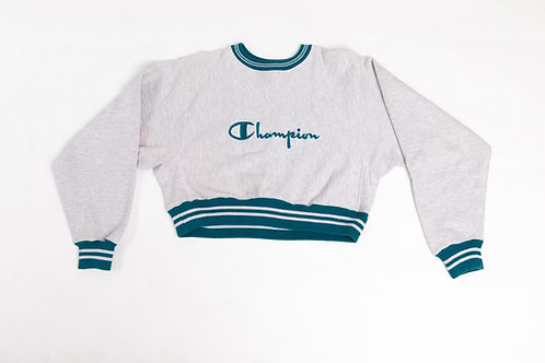Reworked Champion Sweater - Cropped