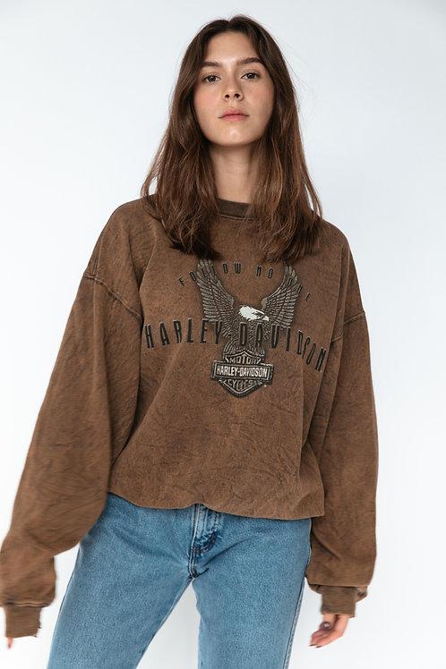 Harley Davidson Faded Brown Sweater