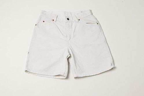 Levi's White Jean Shorts