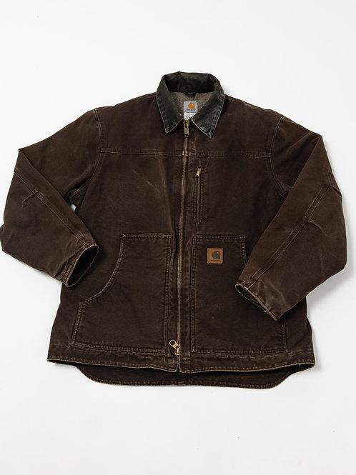 Carhartt Dark Brown Jacket with Fleece Lining