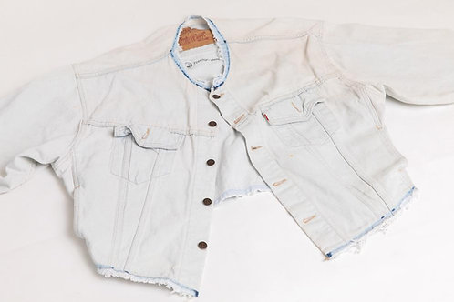 ReWorked Levi's White Jean Jacket