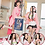 Thumbnail: 鬼滅の刃 コスプレ   竈門禰豆子 ミニ 着物 ピンク コスプレ衣装