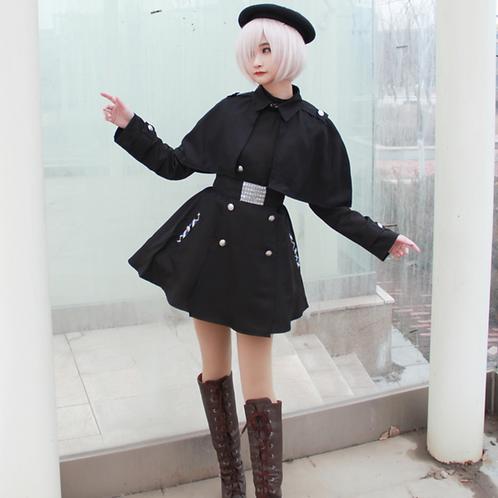 Fate コスプレ マシュ・キリエライト  私服 黒 ポンチョ コート  コスプレ衣装