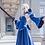 Thumbnail: Fate アルトリア・ペンドラゴン セイバー 青 ロングドレス コスプレ衣装