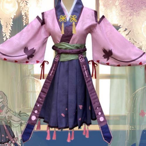 鬼滅の刃 コスプレ    甘露寺蜜璃 ピンク ミニ 着物 コスプレ衣装