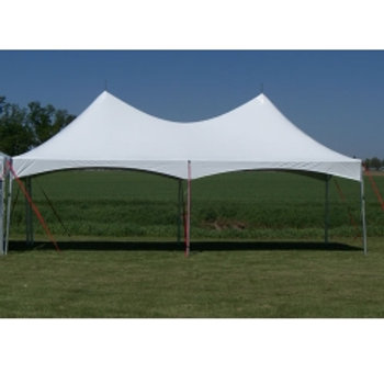 REGULAR MARQUEE 15X30 (6 POLES) WHITE TOP