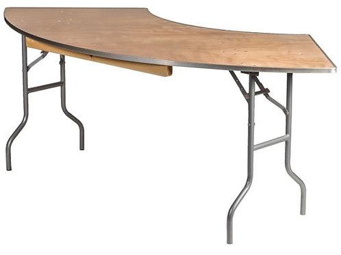 Large Serpentine Food Table