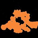 orange and black logo transparent backgr