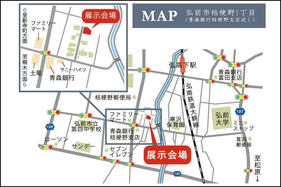 桔梗野地図