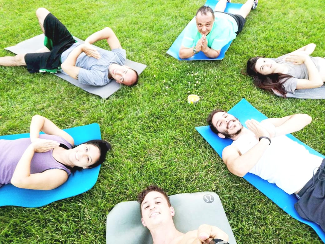 yoga di gruppo, yogatransfert