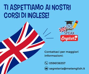 Ti aspettiamo ai nostri corsi di Inglese!