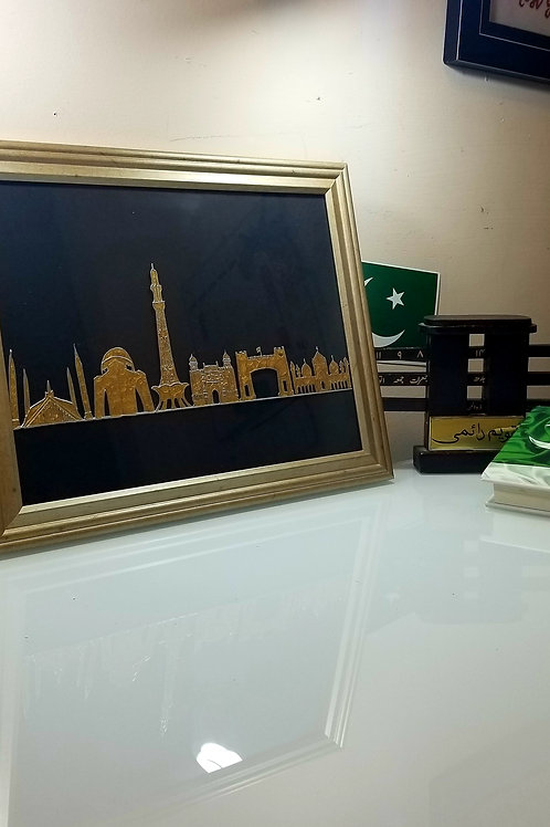 Pakistan Skyline Art - Travel Decor