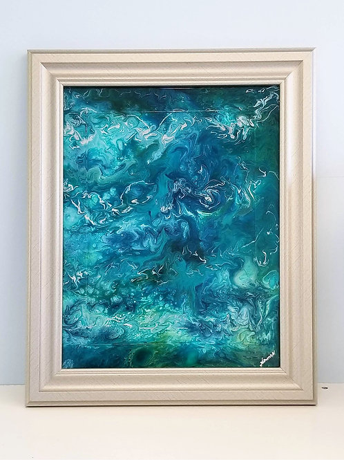 Open Sea - Abstract art on Glass