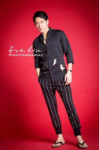 full shot of a tall male model