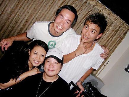 Eva Liu wih celebrity friends