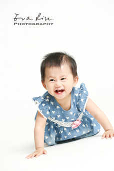 yelling happy baby