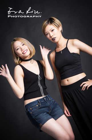 sisters in black japanese style