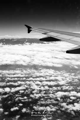 artistic photo of clouds from airplane