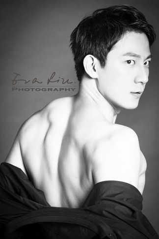 back of a muscular male model
