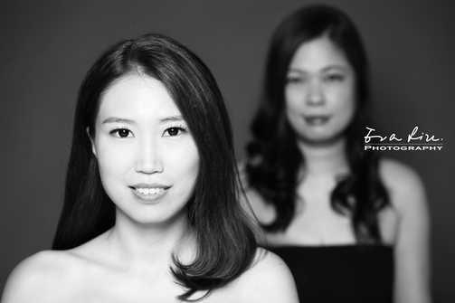 black and white stylish friends photo