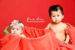 nude babies in photo studio