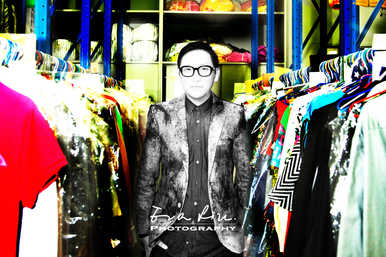 Walter Ma in the tv station's costume department