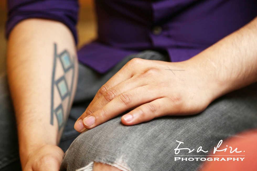 arm tattoo of hairdresser