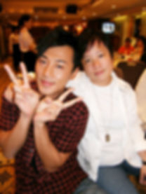 Eva Liu with Raymond Lam the actor
