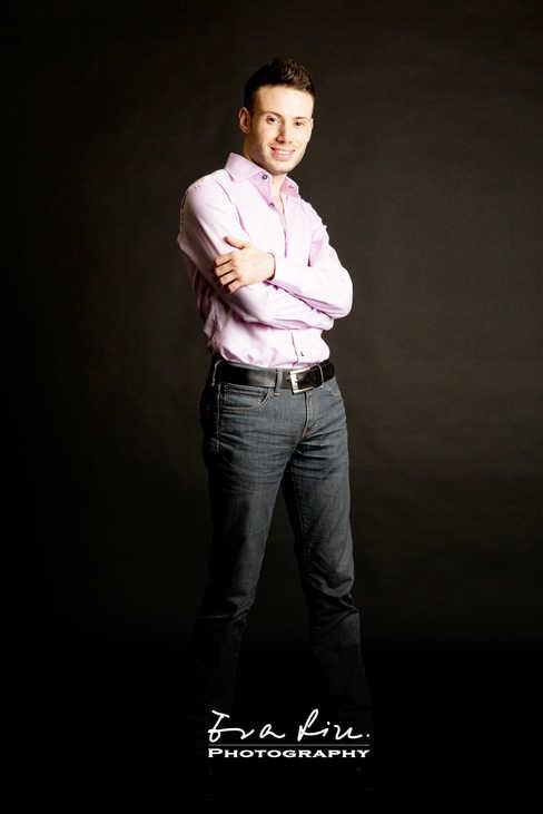 male model in purple color shirt