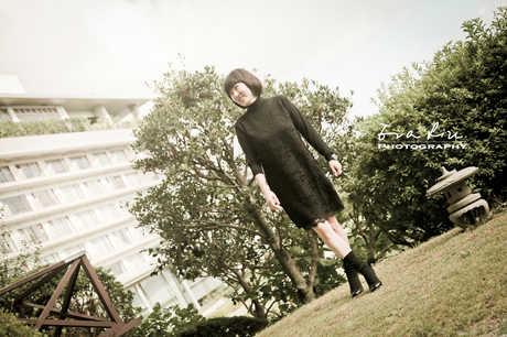 lady portrait in japan hotel