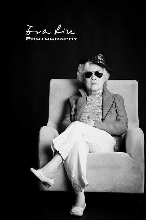 gangster grandma with sunglasses