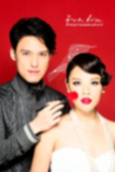 Make Up Artist Stephen Lau with model