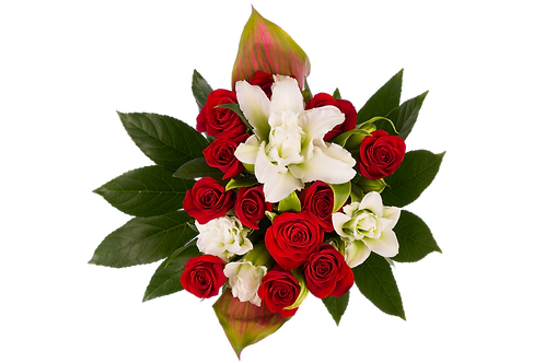 DL Fragrant Lily Rose Premium Bouquet Mix