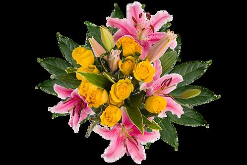 DL Fragrant Rose Deluxe Bouquet Mix