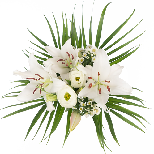 Tropical Palm Sunday Bouquet