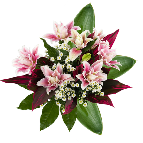 Double the Love Rose Lily Bouquet