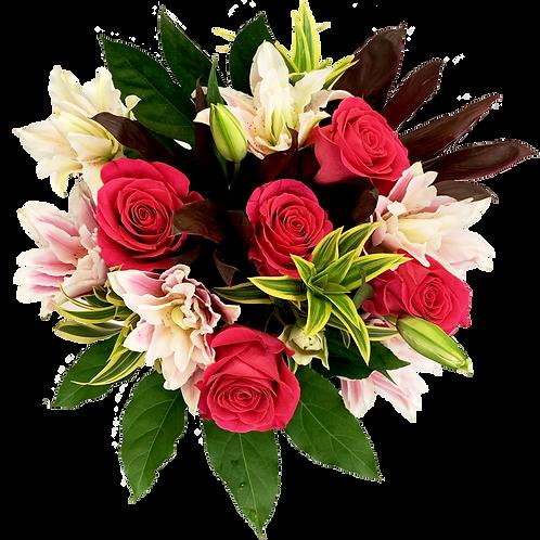 DL Rose Soirée Deluxe Bouquet Mix