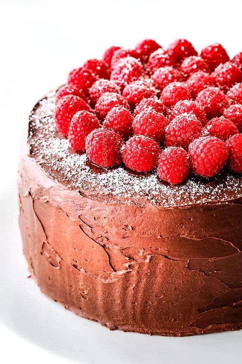 Chocolate Raspberry Mini Cake