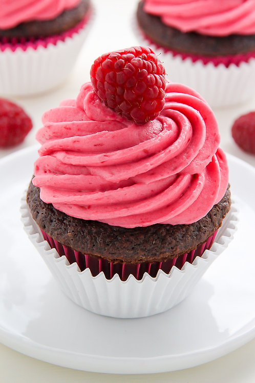 Chocolate Raspberry Cupcake (set of 12)